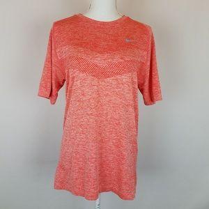 Nike Orange Dri Fit Running T Shirt Size Medium